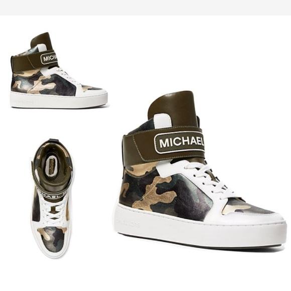 Nib Michael Kors Camo Hightop Sneaker
